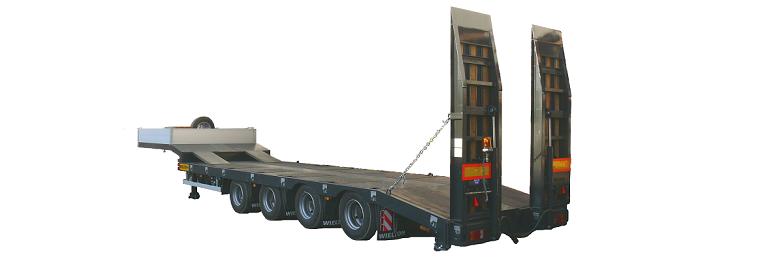 Semiremorci trailer pentru transport utilaje